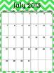 Ultimate Teacher Green Chevron 2013-2014 Planner - Popular Design