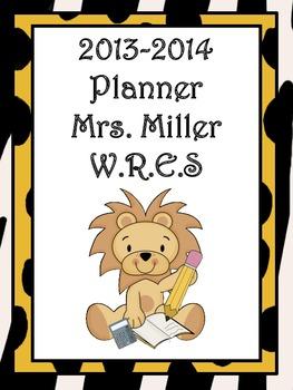 Ultimate Teacher Jungle 2 Themed 2013-2014 Planner - A Tea
