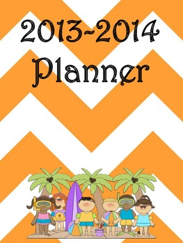 Ultimate Teacher Orange Chevron 2013-2014 Planner - A Teac