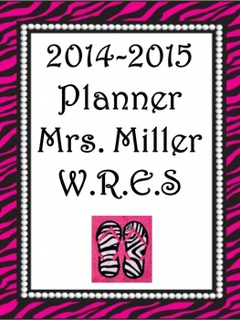 Ultimate Teacher Planner 2014-2015 Beautiful Zebra Pearl H