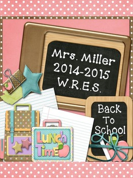 Ultimate Teacher Planner Pastel School Fun 2014-2015  - Co