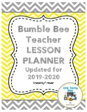 Teacher Lesson Planner - Yellow and Grey Bumble Bee Theme