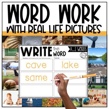A_E, AI, AY Word Work Centers
