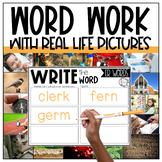 AR, ER, IR, OR, UR Word Work Centers