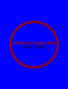 Ultimate Vocab 360: Series 1, Unit 4  (upper elementary)