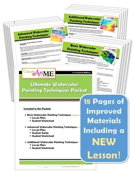Ultimate Watercolor Techniques Lessons Packet-3 Lessons