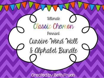 Word Wall Cursive Alphabet