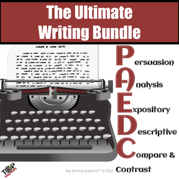 Essay Writing Bundle: Expository Analysis Persuasive Descriptive