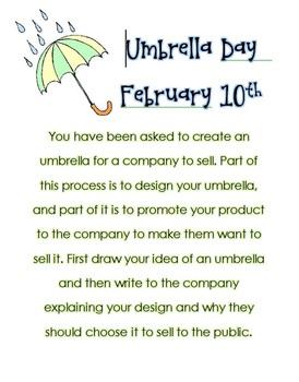 Umbrella Day Feb. 10th Writing Prompt