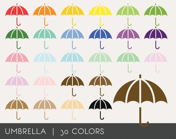Umbrella Digital Clipart, Umbrella Graphics, Umbrella PNG