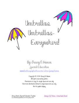 Umbrella Matching Game! Color match, sorting, patterns, mo