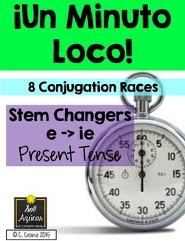 Minuto Loco - Stem Changing Verbs E - IE in Present Tense