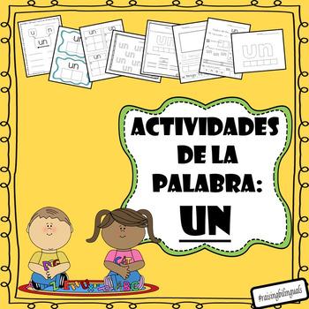 Un (Spanish sight word work)