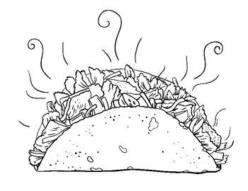 Un Taco Lesson Coloring Page