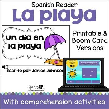 Un día en la playa Spanish Beach reader {libro en español}