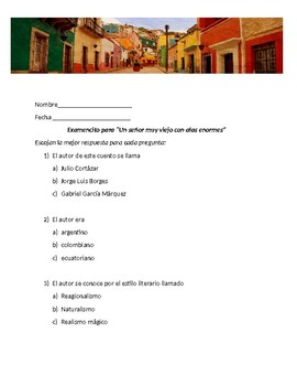 Un señor my viejo con alas enormes (reading comprehension test)