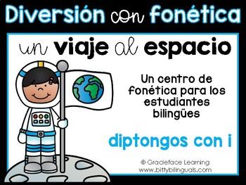 Un viaje al espacio – A Spanish Phonics Center for diphtho