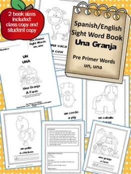Una Granja Spanish Sight Word Early Reader Book  un, una (
