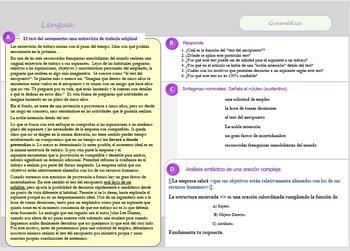 Una entrevista de trabajo original spanish reading compreh