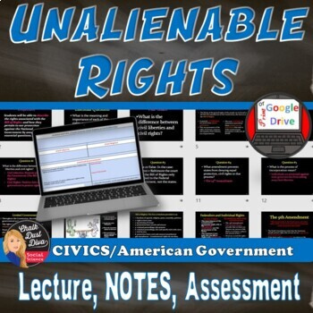 Unalienable Rights Lecture Power Point Presentation –  (CIVICS)
