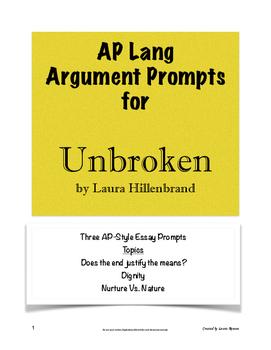 Unbroken Argument Prompts; AP Lang and Comp