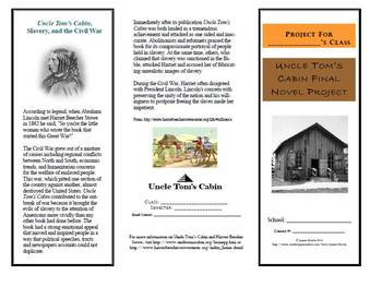 Uncle Tom's Cabin Novel Project