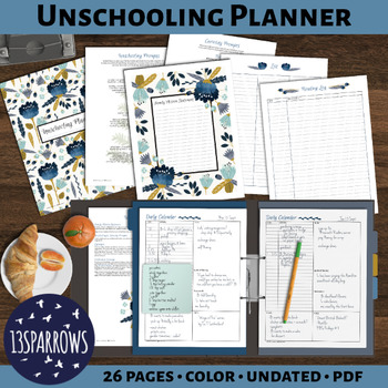 Undated Unschooling Planner