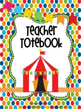 Under The Big Top Teacher Totebook Binder