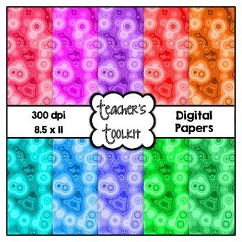 Microscope Digital Background Papers {8.5 x 11} Clip Art CU OK