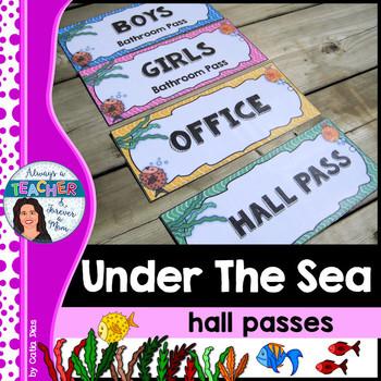 Under The Sea Classroom Theme - Bathroom & Hall Passes