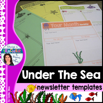 Under The Sea Classroom Theme - Editable Newsletter Templates