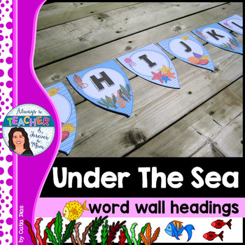 Under The Sea Classroom Theme - Word Wall Headings