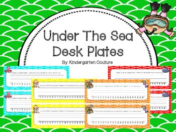 Under The Sea Desk Plates