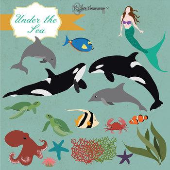 Under The Sea Marine Life Clipart