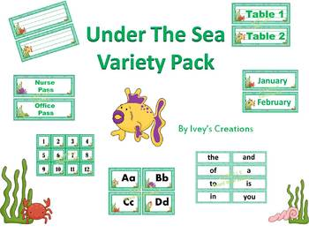 Under The Sea Ocean Theme Variety Pack