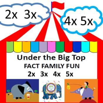 Under the Big Top Fact Family Fun 2x  3x  4x  5x