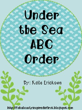 Under the Sea ABC Order {freebie}
