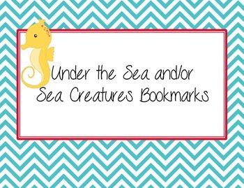 Under the Sea Bright Stripe and Chevron Theme Bookmarks