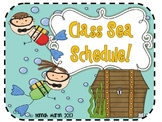 Under the Sea Class Schedule!