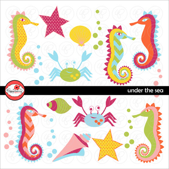 Under the Sea Clipart by Poppydreamz
