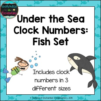 Under the Sea Clock Numbers: Fish Set