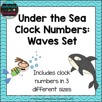 Under the Sea Clock Numbers: Waves Set