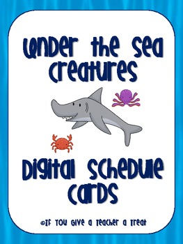 Under the Sea Digital Schedule Cards