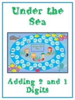 Under the Sea Math Folder Game - Common Core - Adding 2 an
