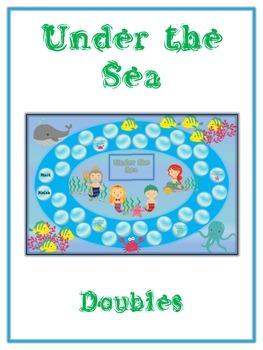 Under the Sea Math Folder Game - Common Core - Adding Doubles