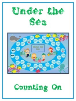 Under the Sea Math Folder Game - Common Core - Counting On