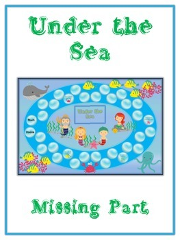 Under the Sea Math Folder Game - Common Core - Finding the