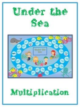 Under the Sea Math Folder Game - Common Core - Multiplication