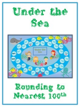 Under the Sea Math Folder Game - Common Core - Rounding to