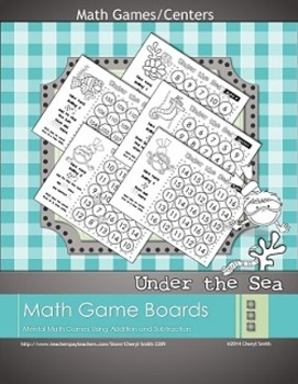 Under the Sea - Mental Math Game Boards